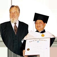 悟覺妙天禪師榮獲美國紐約國際教育學院頒授榮譽哲學博士榮銜